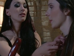 Crazy fetish, blowjob porn scene with horny pornstars Winter Sky and January Seraph from Whippedass