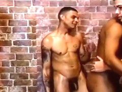 Six Latin Studs Have Gay Orgy In Alley