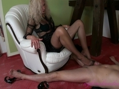 boss wife mother i'd like to fuck footjob with spunk flow in extrem high heels