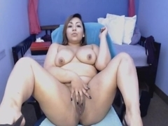 Busty Amateur Babe Masturbates her Pussy