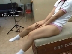 Amateur student undressing on the floor