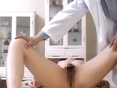 Pussy exam made this tramp horny so she fucked her doctor