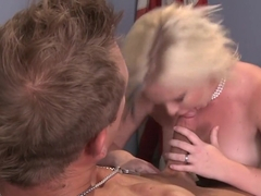 Fabulous pornstar Sasha Knox in exotic blonde, swallow porn clip