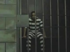 Passionate sex with a tranny in a prison