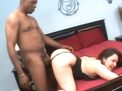 Sexy Latina with a big booty has a black stud fulfilling her desires