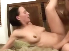 Petite Brunette Chick Gets Penetrated By Big Cock