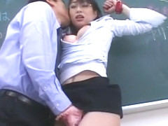 Crazy Japanese girl Akari Hoshino in Best Threesome, Stockings JAV video