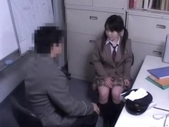 Doggystyle Japanese fuck for a hot schoolgirl slut
