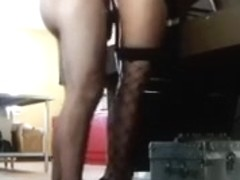 My wife puts on her fishnet stockings and wants me to team fuck her from behind
