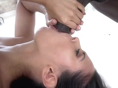 Latin pornstar interracial with facial