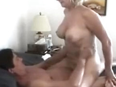 Mature blonde slut wife getting fucked hard in the ass