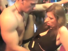 Hot club girls enjoy some hard boners