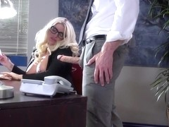 Big Tits at Work: On The Cock While On The Clock. Julie Cash, Johnny Sins