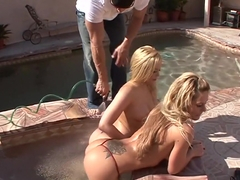 Hottest pornstars Megan Monroe and Alexis Texas in exotic threesome, outdoor sex video