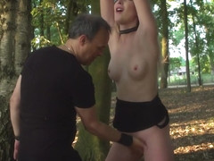 Slave girl screaming of pain and moaning of pleasure