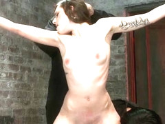 Super Cute Next Door Gets Bound By Perverted Couplestripped, Flogged, Fingered And Made To Cum  - .