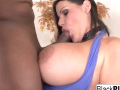 Angelina Castro in Busty Brunette Angelina Gets Prince's Cum On Her Tits - BlackPlease