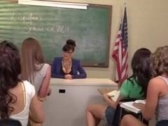 Lesbian orgy in the classroom