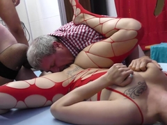 wild german groupsex bukkake orgy