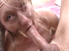 Hot pornstar face fuck and facial