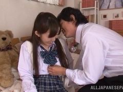 Azumi Kinoshita naughty Asian teen gets load of cum on her tits