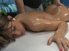 Naughty massage cum fornication