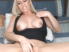 Busty Blonde Wildly Rides Her Toy