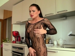 Amazing pornstar Wendy Moon in crazy lingerie, facial adult movie