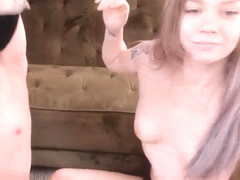 Cute Lesbian Gets Down on Her Girlfriend