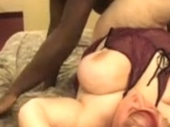 BBW Slut gets her first big black cock in doggy style